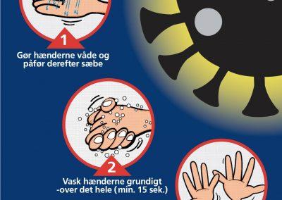 Husk at vaske dine hænder - virus