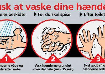 Husk at vaske dine hænder