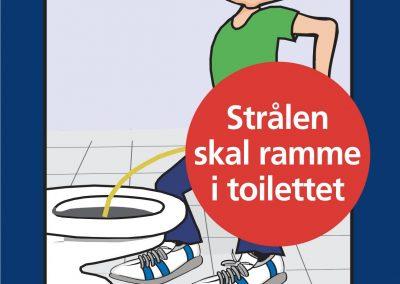 Strålen skal ramme i toilettet